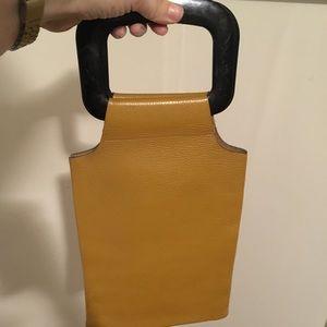 Vintage leather handle bag